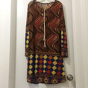 HIGHNESS dress Vintage style multicolored 3X